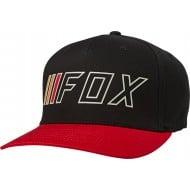 FOX BRAKE CHECK FLEXFIT HAT BLACK / RED COLOUR