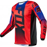 FOX YOUTH 180 OKTIV JERSEY 2021 FLUO RED COLOUR