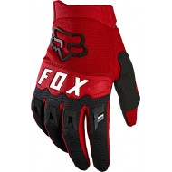 FOX YOUTH DIRTPAW GLOVE 2021 FLAME RED COLOUR