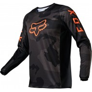 FOX YOUTH 180 TREV JERSEY 2021 BLACK CAMO COLOUR