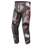 ALPINESTARS YOUTH RACER TACTICAL PANT 2021 CAMO GREY / RED FLUO COLOUR