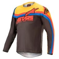 ALPINESTARS YOUTH RACER VENOM JERSEY 2021 COLOR NEGRO / ROJO BRILLANTE / NARANJA
