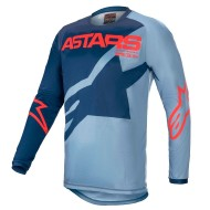 ALPINESTARS YOUTH RACER BRAAP JERSEY 2021 COLOR AZUL OSCURO / AZUL POLVORA / ROJO BRILLANTE