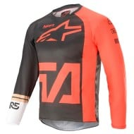ALPINESTARS YOUTH RACER COMPASS JERSEY 2021 COLOR ANTRACITA / ROJO FLUOR / BLANCO
