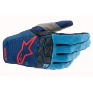 ALPINESTARS RACEFEND GLOVES 2021 DARK BLUE / POWDER BLUE / BRIGHT RED COLOUR
