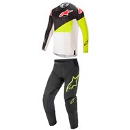 COMBO ALPINESTARS TECHSTAR FACTORY 2021 BLACK / YELLOW / WHITE COLOUR