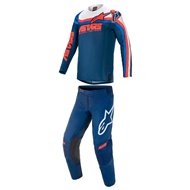 COMBO ALPINESTARS TECHSTAR VENOM 2021 BLUE / RED / WHITE COLOUR