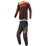 COMBO ALPINESTARS TECHSTAR VENOM 2021 BLACK / RED / ORANGE COLOUR