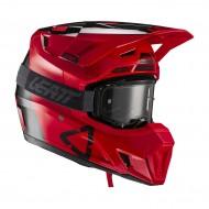 LEATT KIT MOTO 7.5 V21.2 HELMET 2021 RED COLOUR - WITH GOGGLES