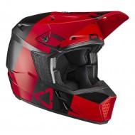 OFFER LEATT MOTO 3.5 V21.3 HELMET 2021 RED COLOUR