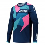 CAMISETA LEATT MOTO 4.5 LITE 2021 COLOR AZUL / ROSA
