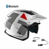 CASCO HEBO TRIAL ZONE 5 H-TYPE BLUETOOTH 2021 COLOR BLANCO
