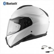 HEBO TOURER FLIP UP BLUETOOTH HELMET 2021 WHITE COLOUR