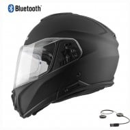 HEBO TOURER FLIP UP BLUETOOTH HELMET 2021 BLACK MATT COLOUR