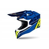 YOUTH AIROH WRAAP MOOD HELMET 2021 BLUE GLOSS COLOR