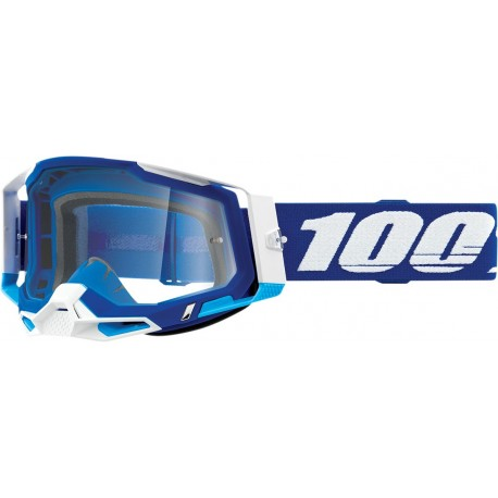 GAFAS 100% RACECRAFT 2 2021 COLOR AZUL - LENTE TRANSPARENTE