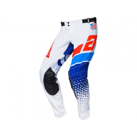 PANTALÓN ANSWER ELITE KORZA 2021 COLOR BLANCO/ROJO/AZUL FLÚOR/AZUL RÉFLEX