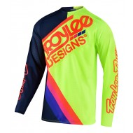 TROY LEE SE PRO AIR TILT JERSEY 2021 NAVY / FLUO YELLOW COLOUR
