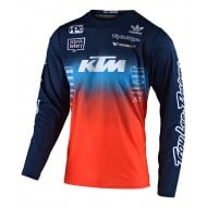 TROY LEE GP AIR STAIND TEAM JERSEY 2021 NAVY / ORANGE COLOUR