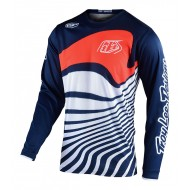 CAMISETA INFANTIL TROY LEE GP DRIFT 2021 COLOR AZUL MARINO / NARANJA
