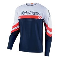 TROY LEE SE ULTRA FACTORY JERSEY 2021 WHITE / NAVY COLOUR