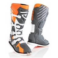 ACERBIS X-RACE BOOTS ORANGE / GREY COLOUR