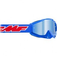 YOUTH 100% FMF ROCKET GOGGLES 2021 BLUE COLOUR LENS BLUE MIRROR