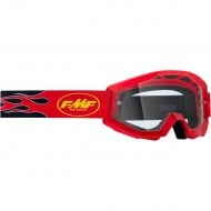 100% FMF FLAME GOGGLES 2021 RED COLOUR - CLEAR LENS