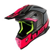 CASCO JUST1 J38 BLADE COLOR FUCSIA FLUOR / NEGRO MATE