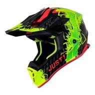 CASCO JUST1 J38 MASK COLOR NARANJA FLUOR / TITANIO / NEGRO MATE