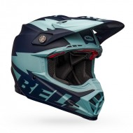 BELL MOTO-9 FLEX BREAKAWAY HELMET COLOUR NAVY / LIGHT BLUE MATTE