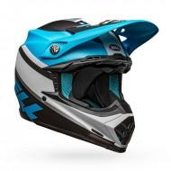 BELL MOTO-9 MIPS PROPHECY COLOUR WHITE / BLACK / BLUE MATTE