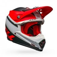 BELL MOTO-9 MIPS PROPHECY COLOUR WHITE / RED / BLACK MATTE