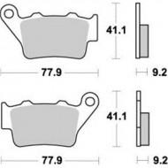 PASTILLAS DE FRENO TRASERAS MOTO-MASTER KTM EXC-G 525 RACING (2003)
