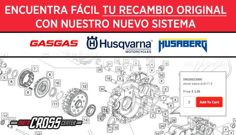 Nuevo sistema de recambios ONLINE HUSQVARNA/GASGAS