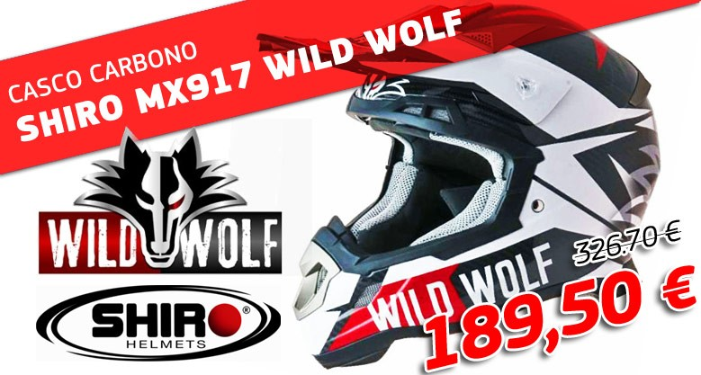 CASCO CARBONO SHIRO MX917 WILD WOLF