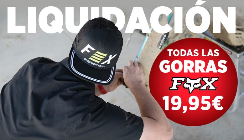 LIQUIDACIÓN GORRAS FOX