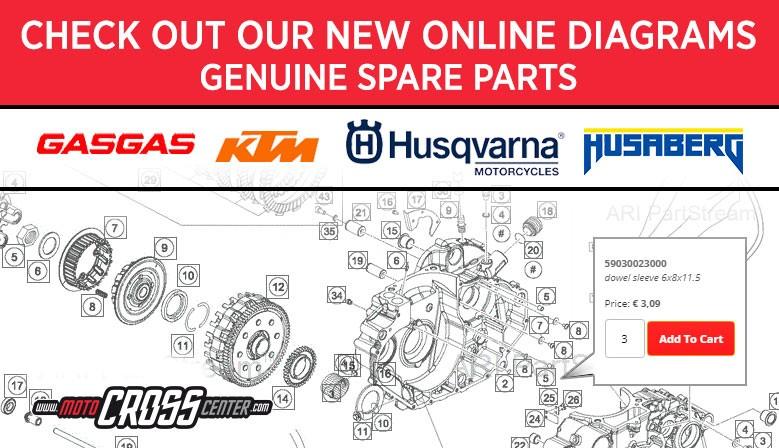 NEW SPARE PART SYSTEM ONLINE HUSQVARNA/KTM/GASGAS